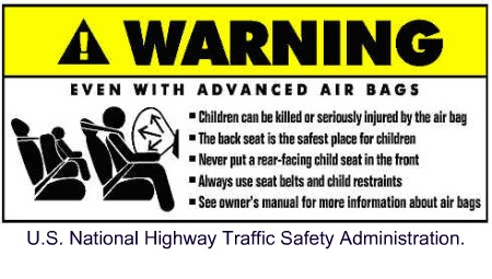 car safety tips airbag warning