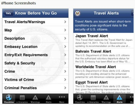 smart traveler app screen